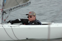 Henrik Johnsson efter seger i sista seglingen